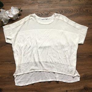 Athleta short sleeve sweater S